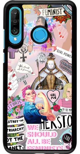 Coque Huawei P30 Lite - Girl Power Collage
