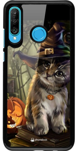 Coque Huawei P30 Lite - Halloween 21 Witch cat
