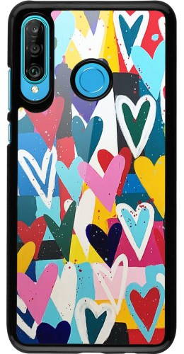 Coque Huawei P30 Lite - Joyful Hearts