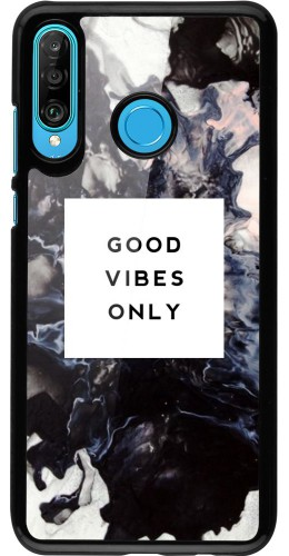 Coque Huawei P30 Lite - Marble Good Vibes Only