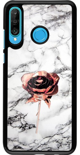 Coque Huawei P30 Lite - Marble Rose Gold