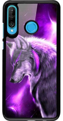 Coque Huawei P30 Lite - Purple Sky Wolf