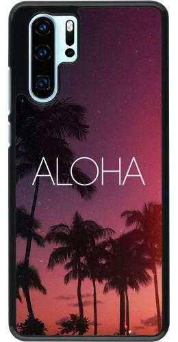 Coque Huawei P30 Pro - Aloha Sunset Palms