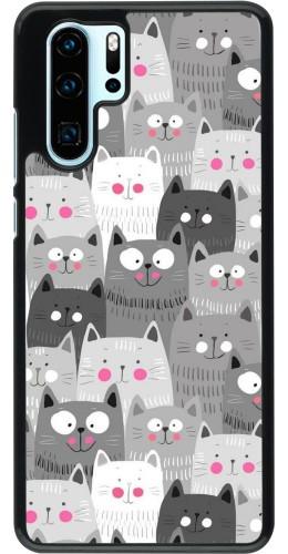 Coque Huawei P30 Pro - Chats gris troupeau