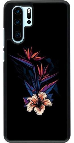 Coque Huawei P30 Pro - Dark Flowers