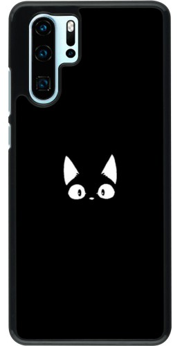 Coque Huawei P30 Pro - Funny cat on black