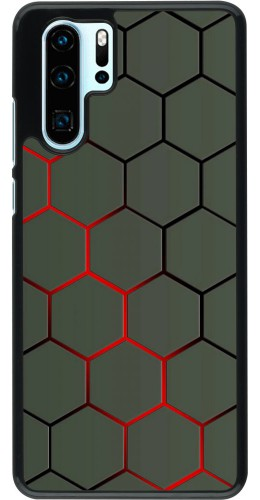 Coque Huawei P30 Pro - Geometric Line red