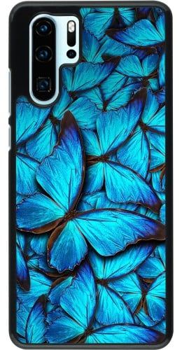 Coque Huawei P30 Pro - Papillon bleu
