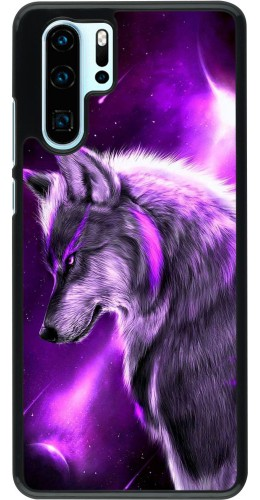 Coque Huawei P30 Pro - Purple Sky Wolf