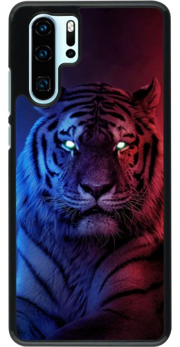 Coque Huawei P30 Pro - Tiger Blue Red