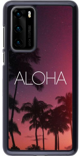 Coque Huawei P40 - Aloha Sunset Palms
