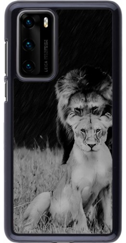 Coque Huawei P40 - Angry lions