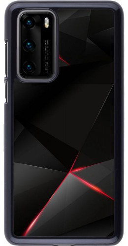 Coque Huawei P40 - Black Red Lines