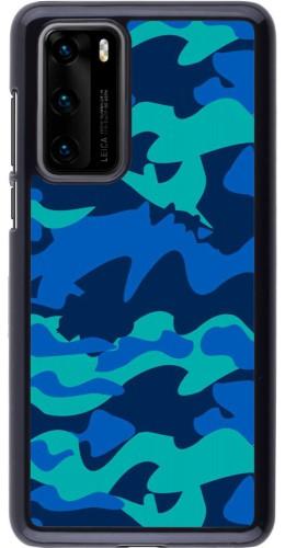Coque Huawei P40 - Camo Blue