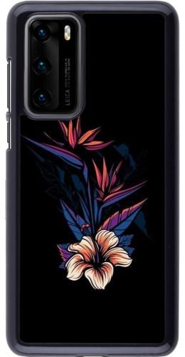 Coque Huawei P40 - Dark Flowers