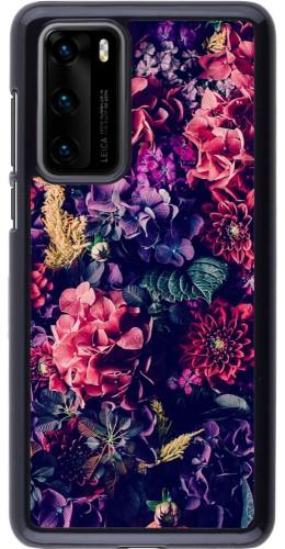Coque Huawei P40 - Flowers Dark