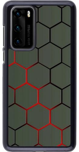 Coque Huawei P40 - Geometric Line red