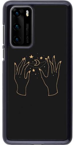 Coque Huawei P40 - Grey magic hands