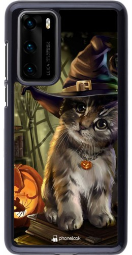Coque Huawei P40 - Halloween 21 Witch cat
