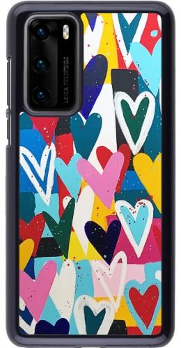 Coque Huawei P40 - Joyful Hearts