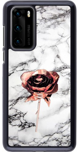 Coque Huawei P40 - Marble Rose Gold