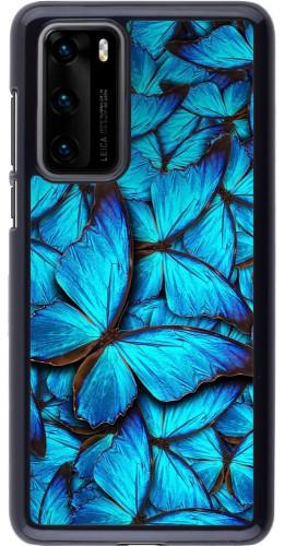 Coque Huawei P40 - Papillon bleu