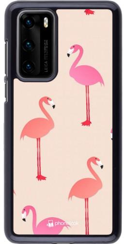 Coque Huawei P40 - Pink Flamingos Pattern
