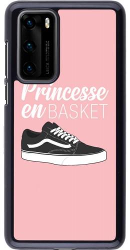 Coque Huawei P40 - princesse en basket