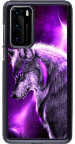 Coque Huawei P40 - Purple Sky Wolf