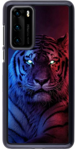 Coque Huawei P40 - Tiger Blue Red