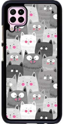 Coque Huawei P40 Lite - Chats gris troupeau