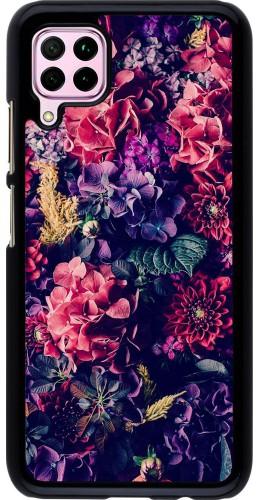 Coque Huawei P40 Lite - Flowers Dark