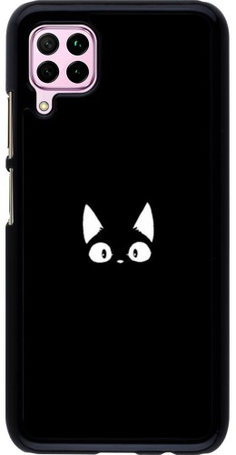 Coque Huawei P40 Lite - Funny cat on black