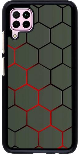 Coque Huawei P40 Lite - Geometric Line red