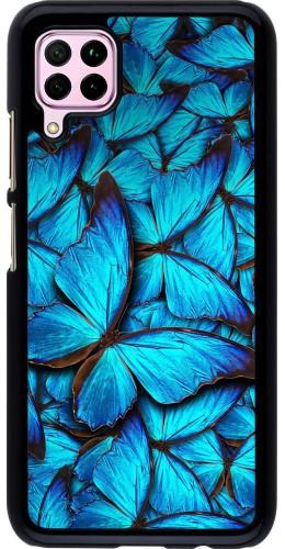 Coque Huawei P40 Lite - Papillon bleu