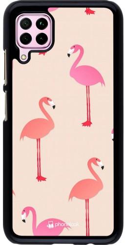 Coque Huawei P40 Lite - Pink Flamingos Pattern
