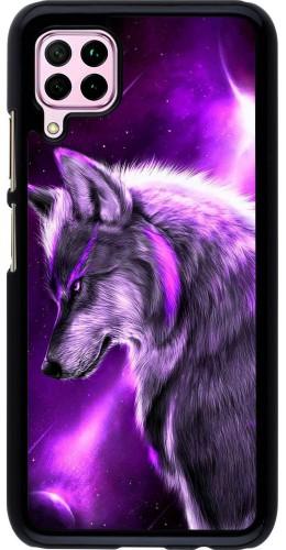 Coque Huawei P40 Lite - Purple Sky Wolf