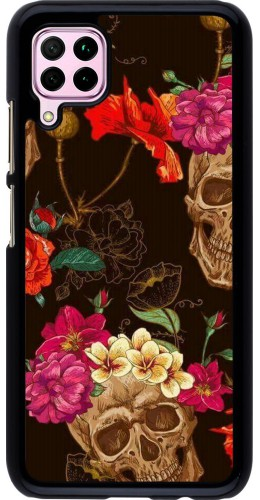 Coque Huawei P40 Lite - Skulls and flowers