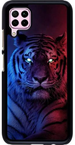 Coque Huawei P40 Lite - Tiger Blue Red
