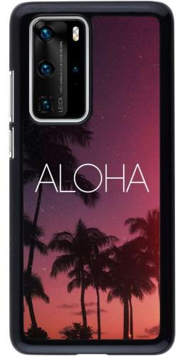 Coque Huawei P40 Pro - Aloha Sunset Palms