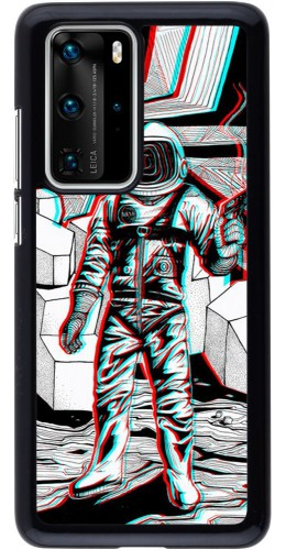Coque Huawei P40 Pro - Anaglyph Astronaut