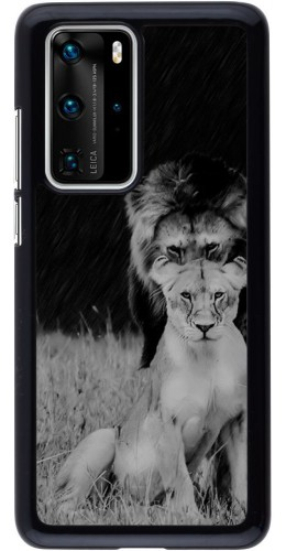 Coque Huawei P40 Pro - Angry lions