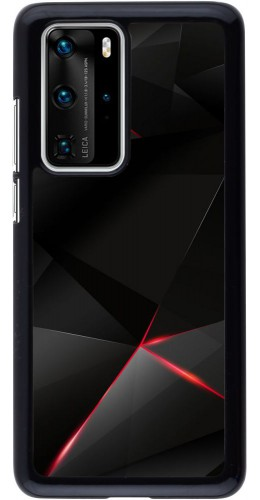 Coque Huawei P40 Pro - Black Red Lines