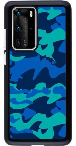 Coque Huawei P40 Pro - Camo Blue