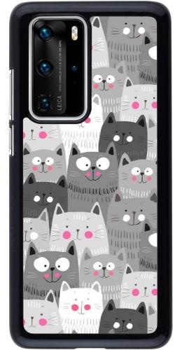 Coque Huawei P40 Pro - Chats gris troupeau