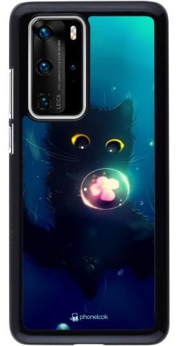 Coque Huawei P40 Pro - Cute Cat Bubble