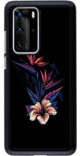 Coque Huawei P40 Pro - Dark Flowers