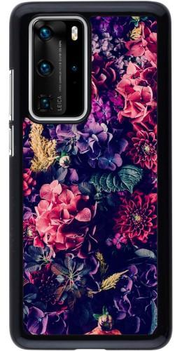 Coque Huawei P40 Pro - Flowers Dark