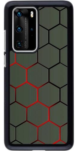 Coque Huawei P40 Pro - Geometric Line red