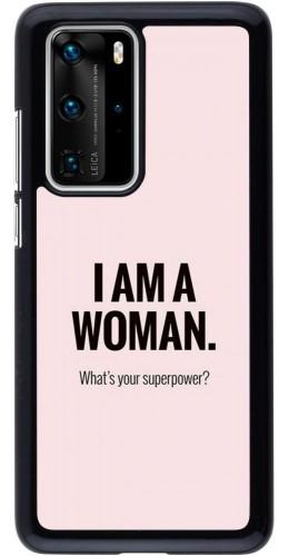 Coque Huawei P40 Pro - I am a woman
